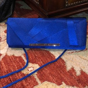 Handbags - Blue clutch